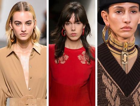 Os brincos de argola na Semana de Moda de Nova York
