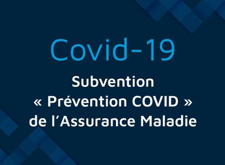 """Subvention """"Prévention-Covid"""" de l'Assurance Maladie pour aider les TPE et PME"""
