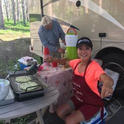 Kristina and pancakes