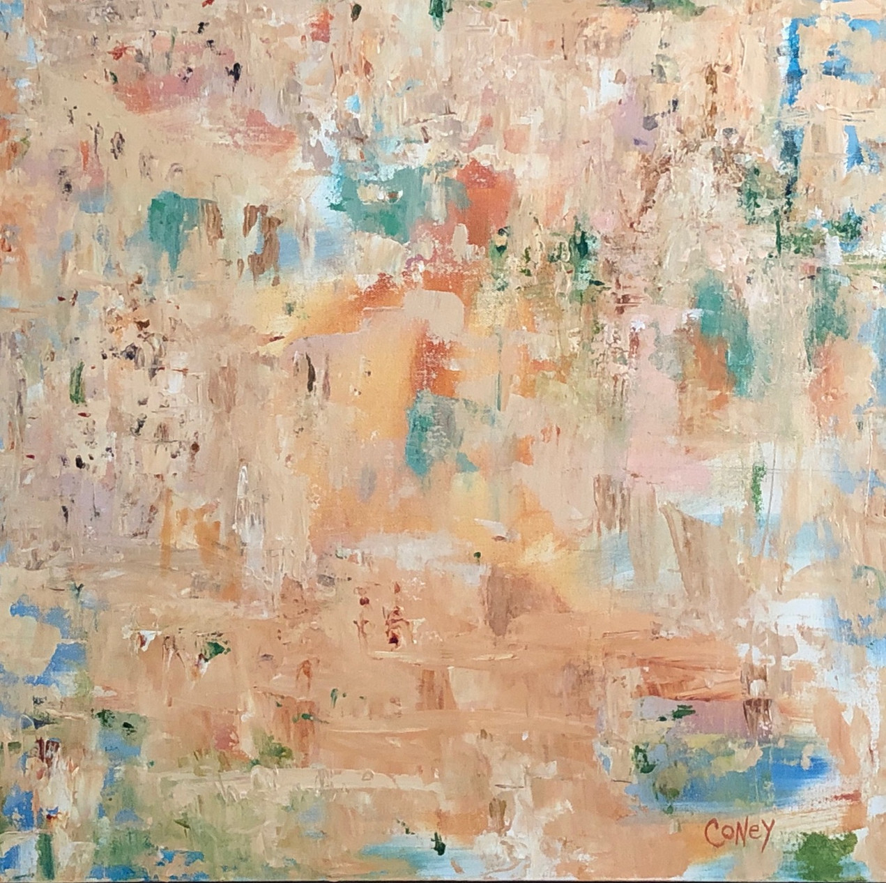 Jerusalem (acrylic on canvas) CindyConeyArt