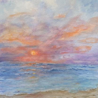 "Sunset Sky (36"" x 36"")"