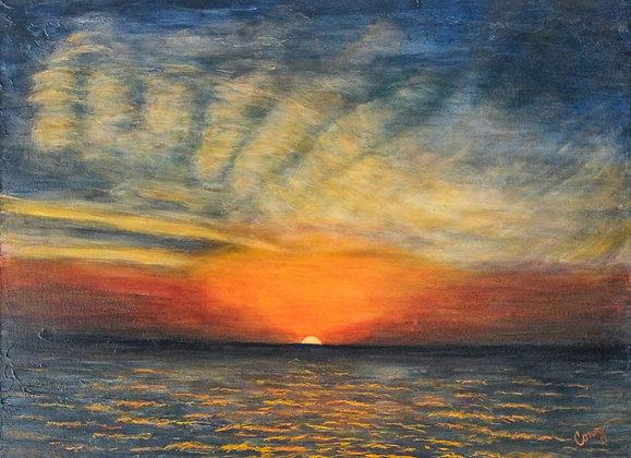 """Bayshore Sunrise (30"""" x 40"""")"""