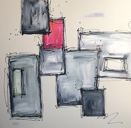 """Note to Self - Appreciate the Little Things (36"""" x 36"""")"""