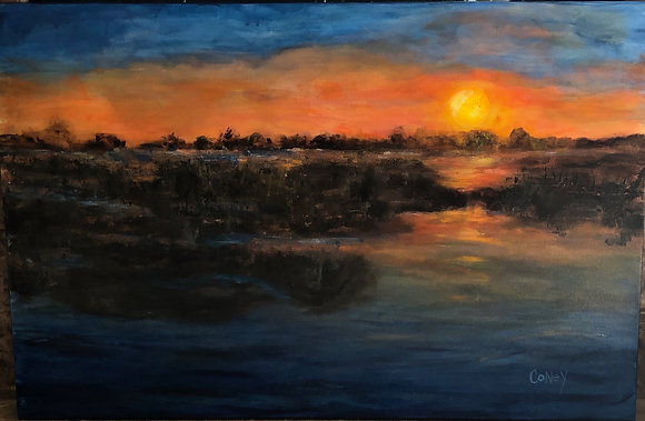 "Texas Sunset (24"" x 36"")"