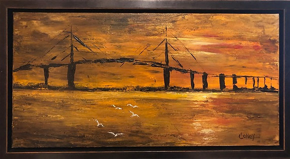"Sunset Skyway (10"" x 20"")"