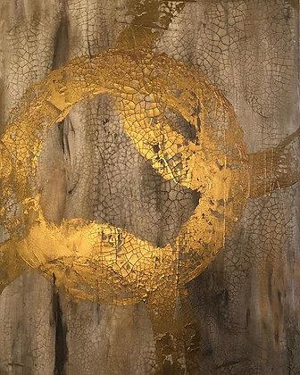 """Golden Rings (24"""" x 36"""")"""
