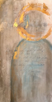 """Angel - Inspired by Mary Oliver (15"""" x 30"""")"""