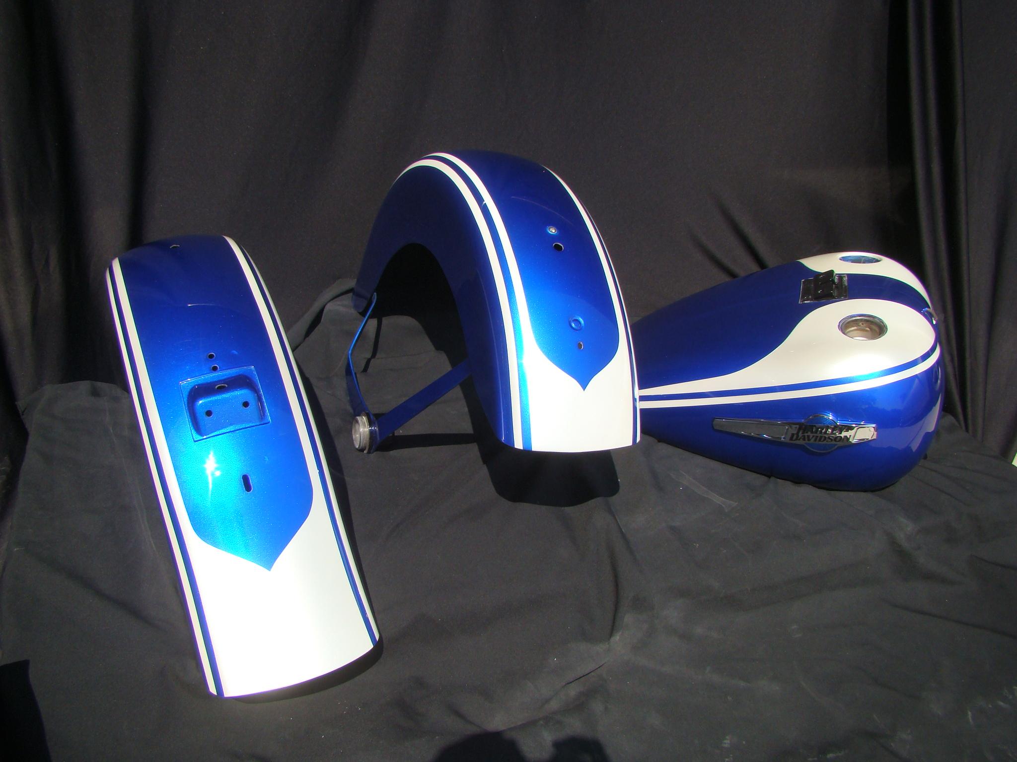 Custom Blue and Cream Heratige