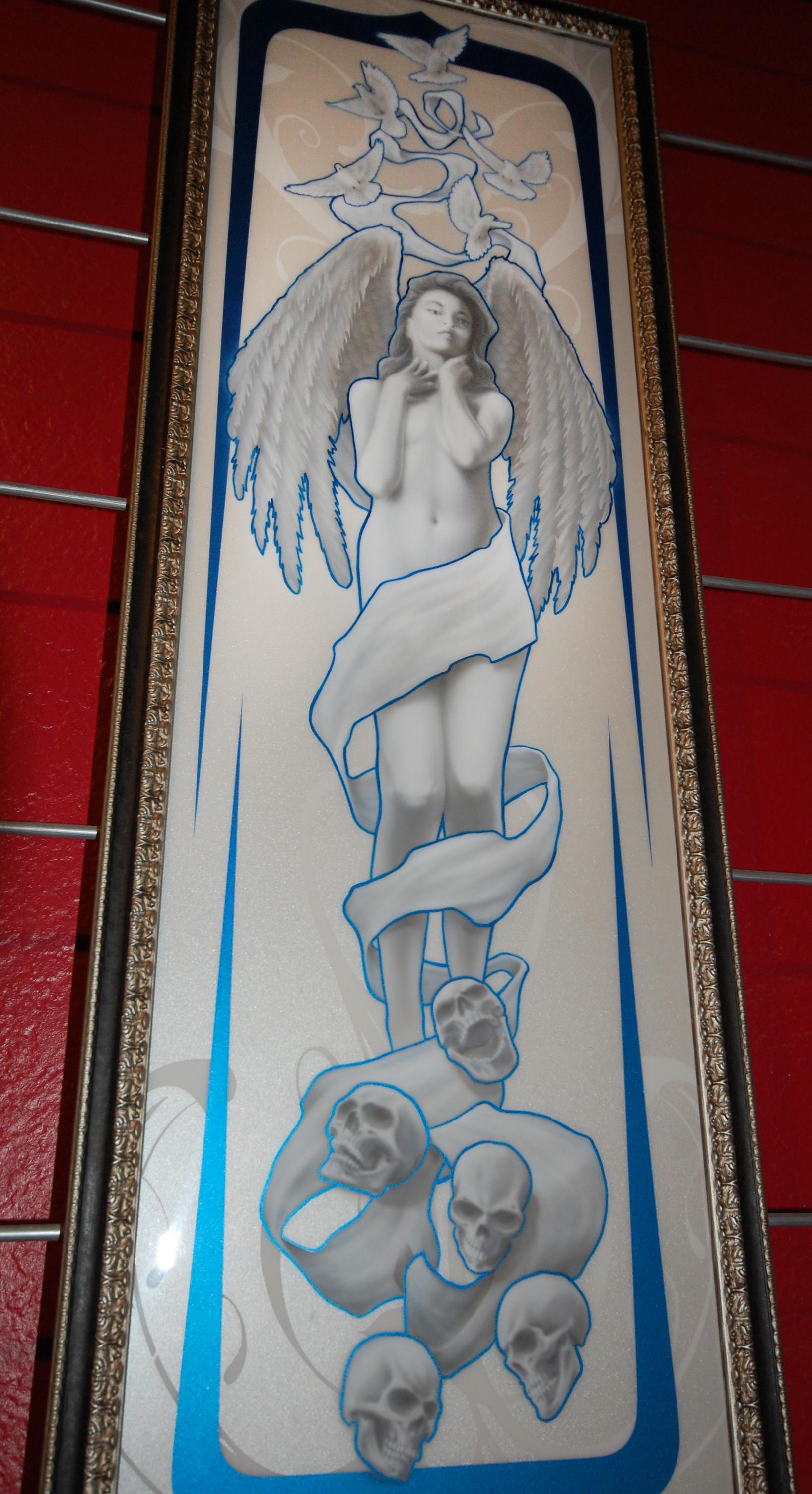 Angel And Skulls Art