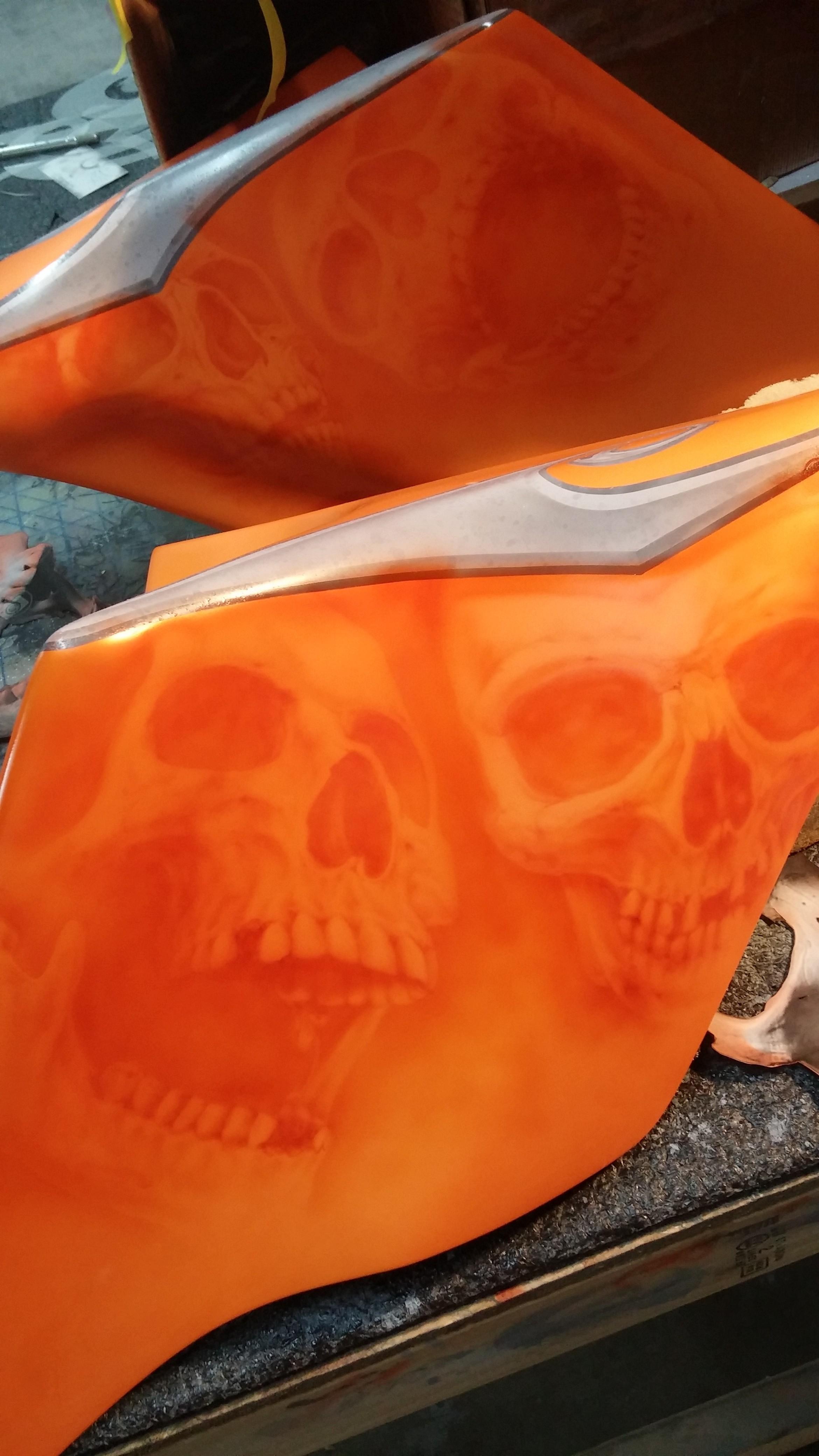Orange Skull Bagger (1)