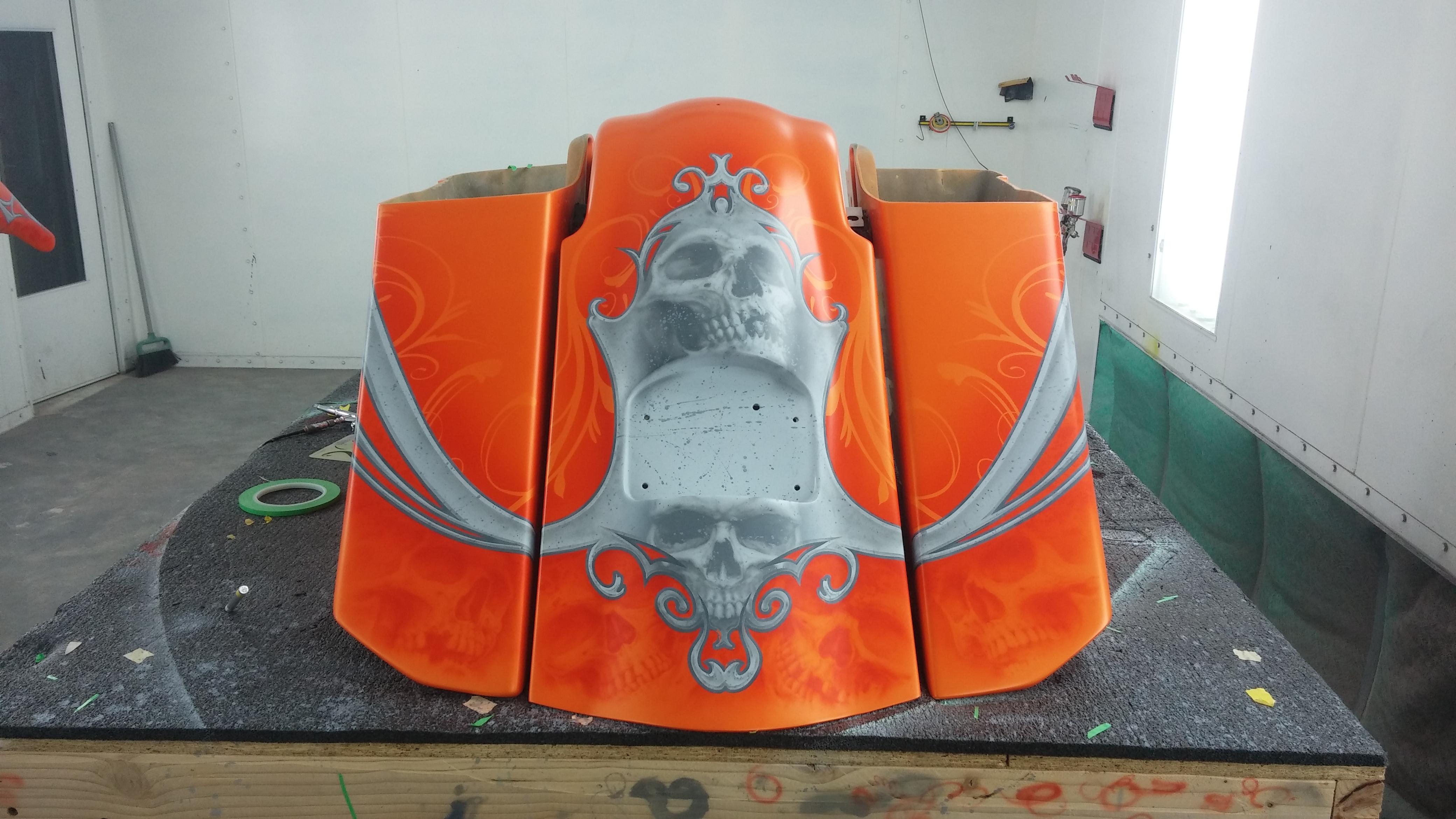 Orange Skull Bagger (2)