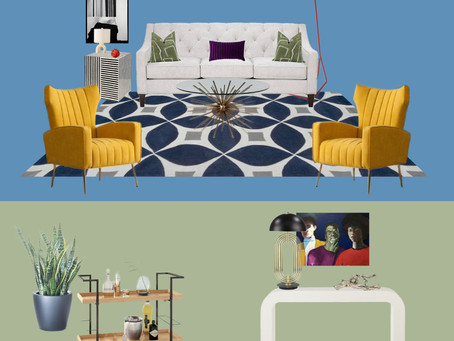 Mood Board August 2020 - Funky & Eclectic Living Room Style