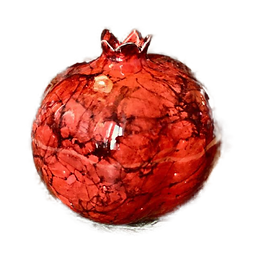 Red Ceramic Pomegranate by Zeeen/Moon