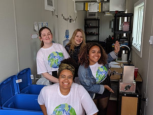 Keneisha, Aaliyah, T and another member in the Operation Take Two Workspace.