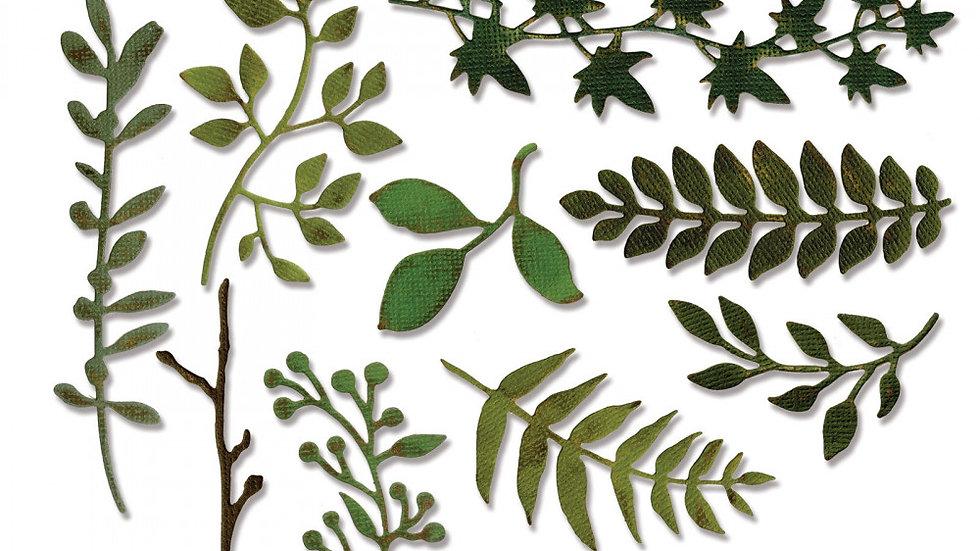Sizzix Thinlits Die Set 9PK - Garden Greens