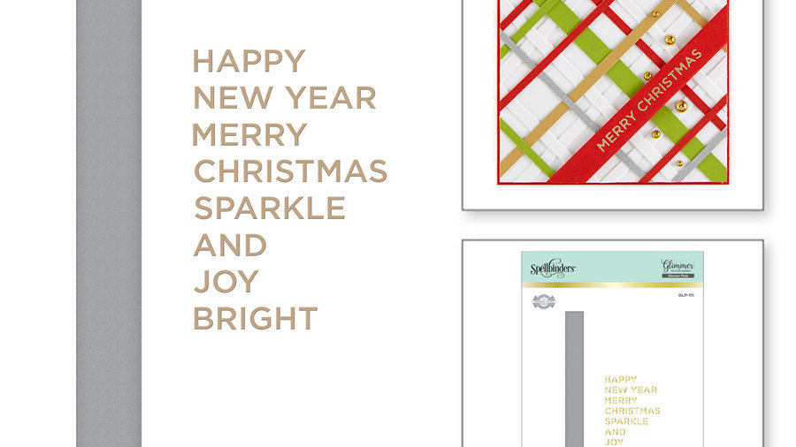 Holiday Sentiments Glimmer Hot Foil Plate Holiday 2019