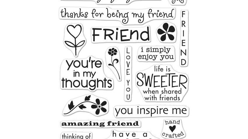 CL351 FRIENDS  Share your thoughts on friendship with this multi-message