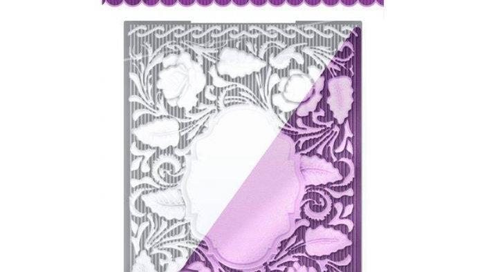 English Rose 3d Embossing Folder