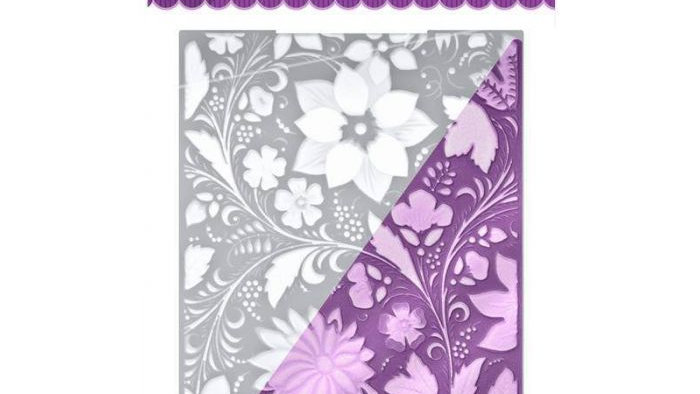 "5""x7"" 3D Embossing Folder - Country Garden"