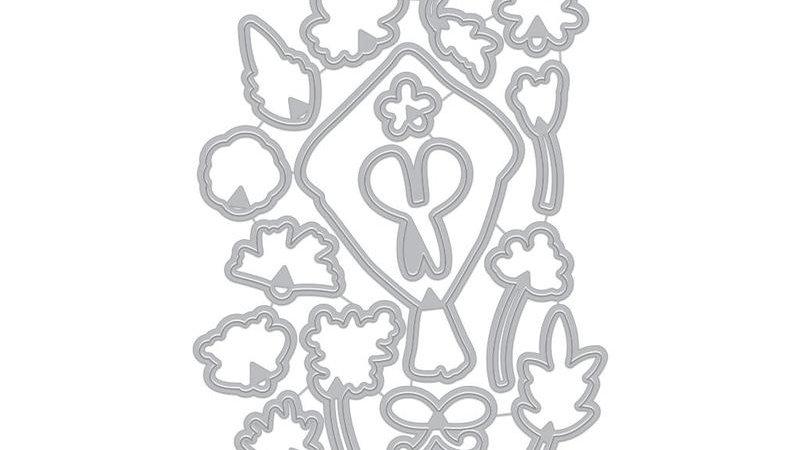 FLOWER BOUQUET PIECES FRAME CUTS (C)