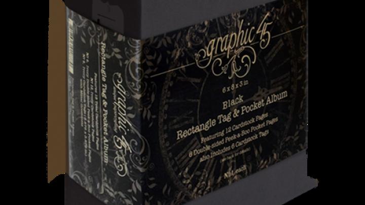 Rectangle tag & pocket album-black