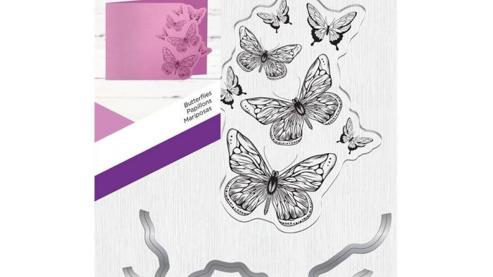 Gemini Stamp and Metal Die Set - Butterflies