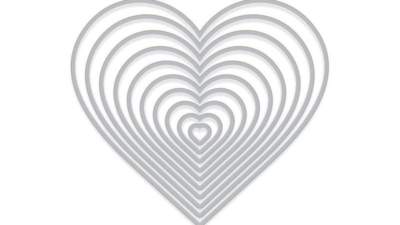 NESTING HEARTS INFINITY DIES (H)