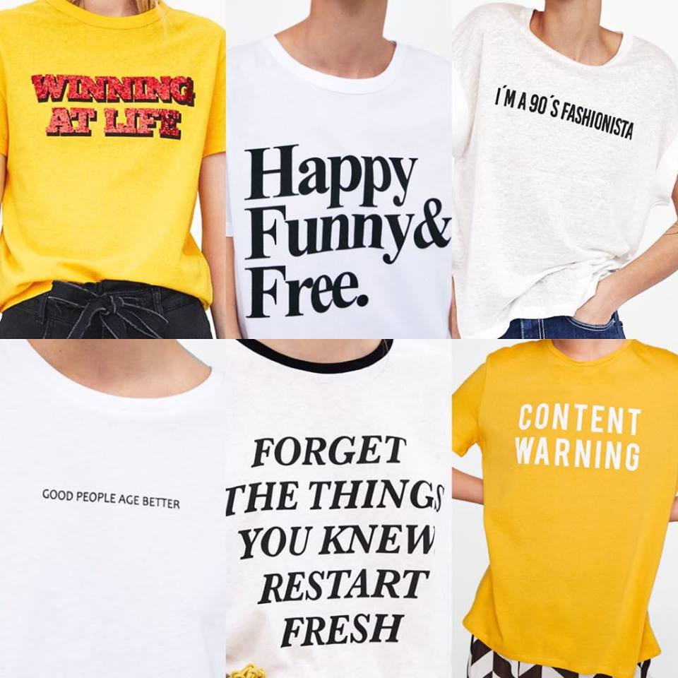 Zara slogan t-shirts