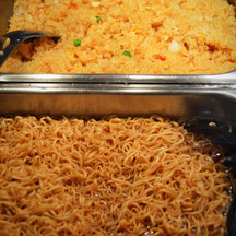 Chow Mein Noodles & Fried Rice