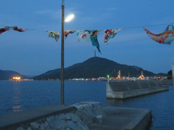 夕方大漁旗
