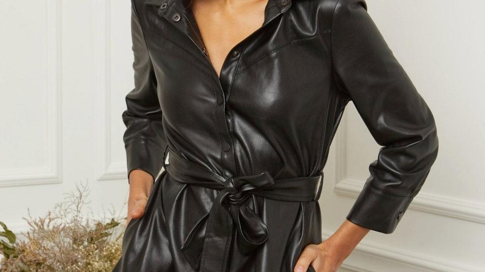 Robe simili noire