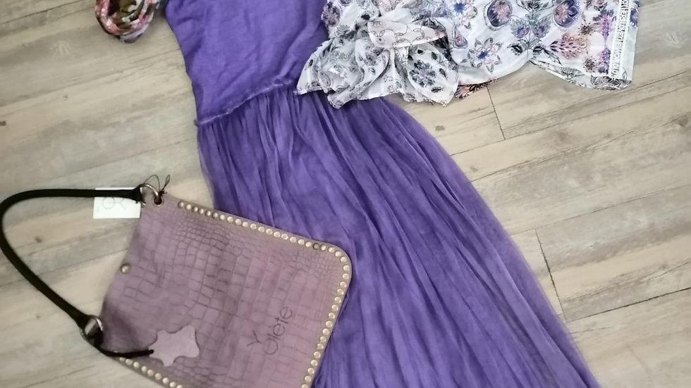 Robe longue stretch à voile