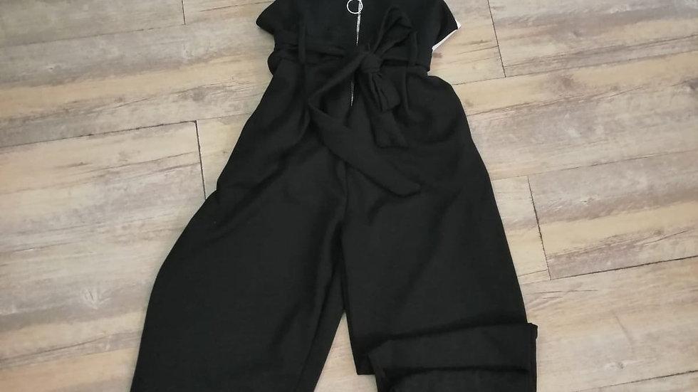 Salopette Noire Stretch