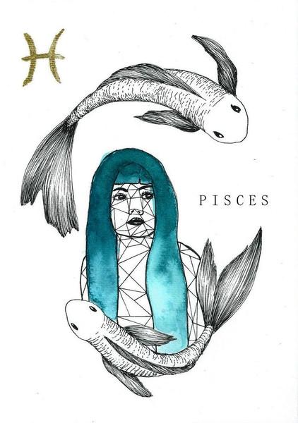 La femme POISSON en Turquoise