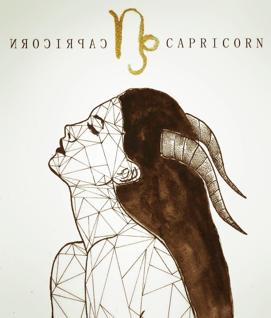 La femme CAPRICORNE en Marron, Beige, Brun