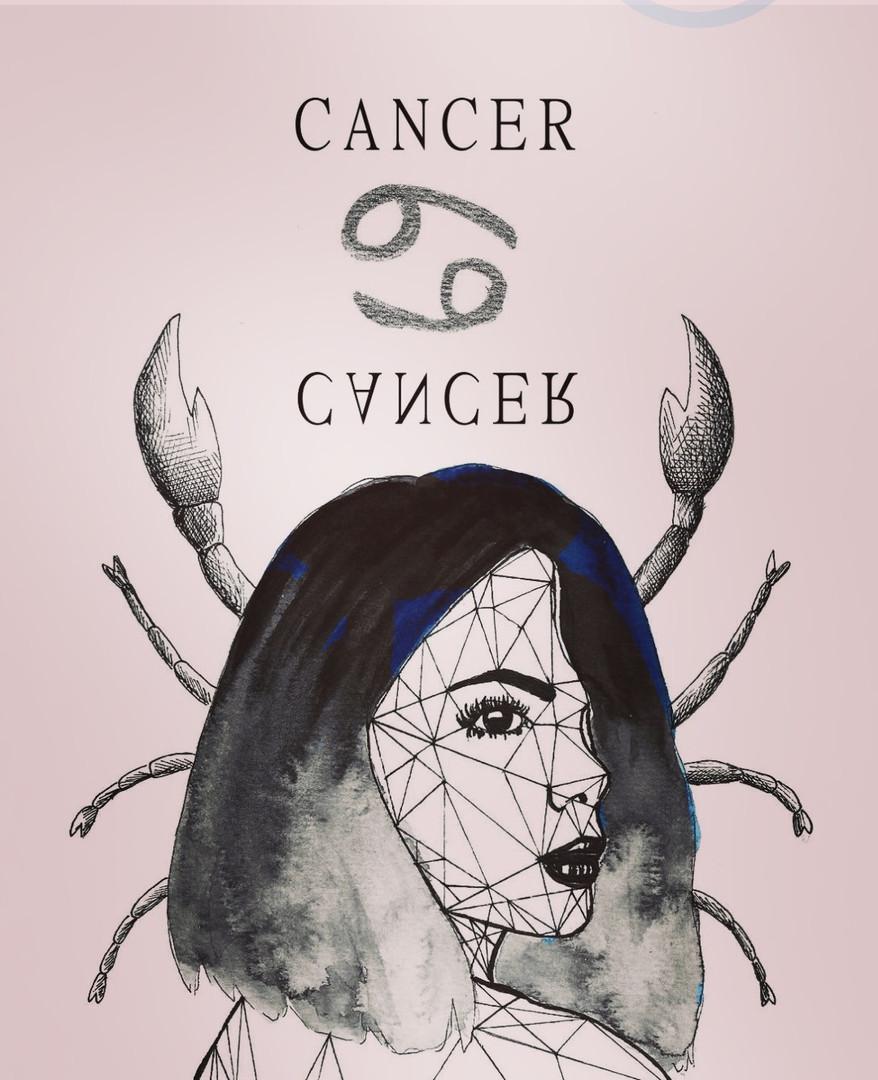 La femme CANCER en Rose
