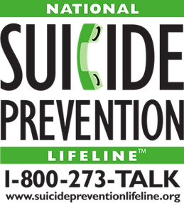 National Suicide Prevention Lifeline. Call 1-800-273-TALK to speak to someone