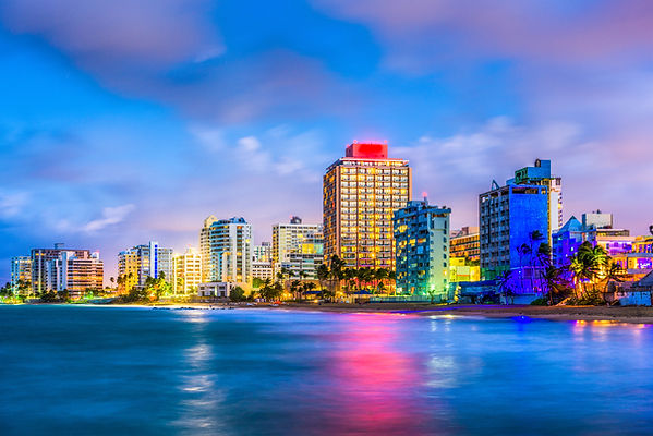 San Juan, Puerto Rico resort skyline on