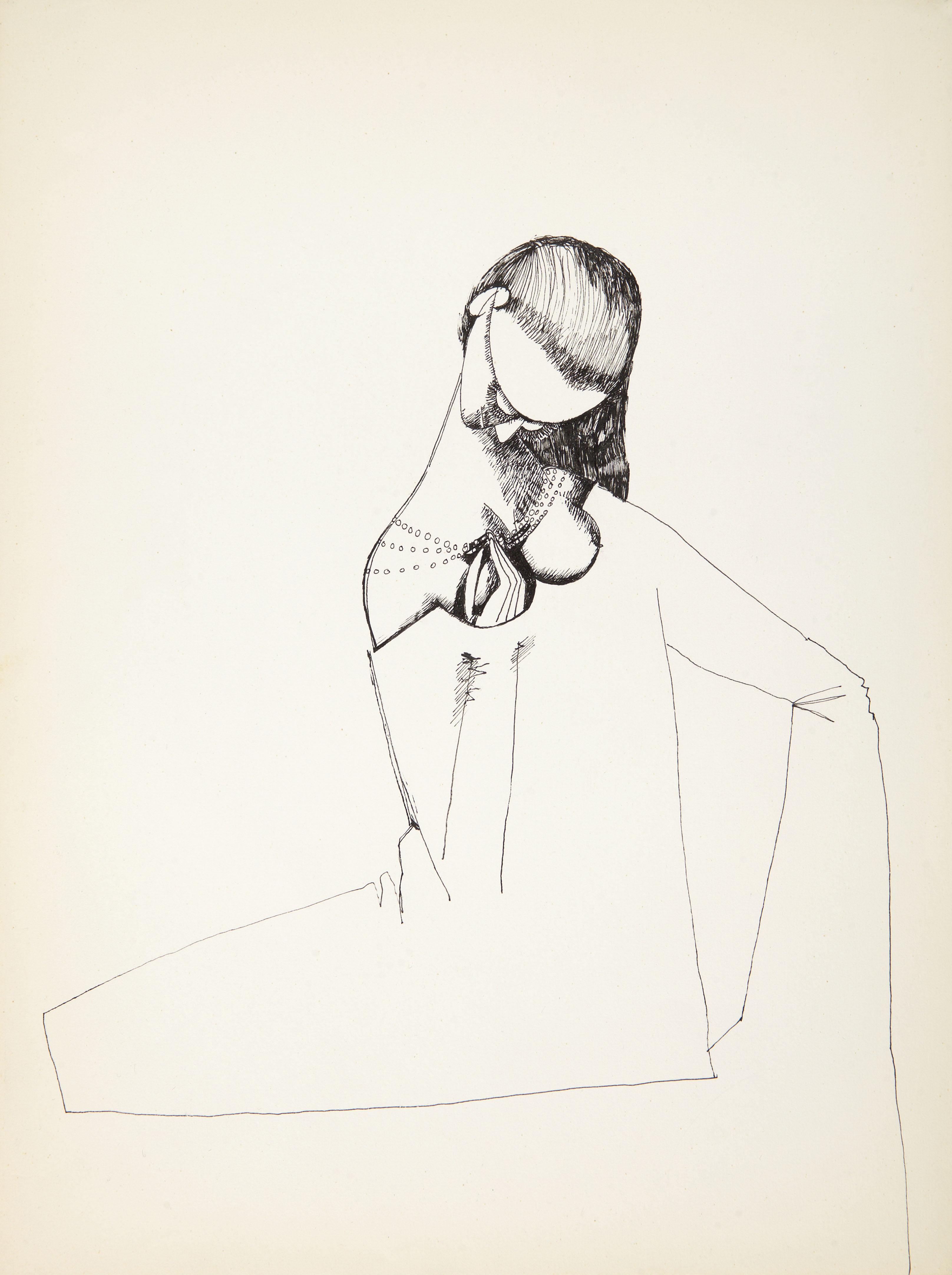 Endre Rozsda - Femme au collier de perles (c 1970)