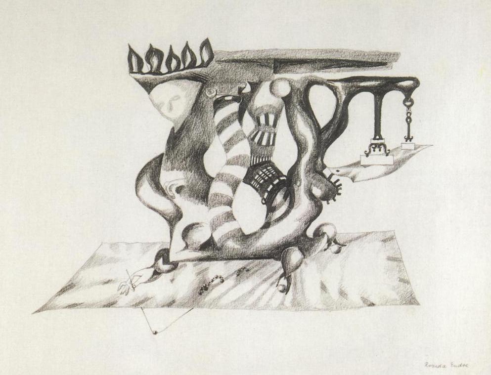Endre Rozsda - Homme-meuble (cca 1955)