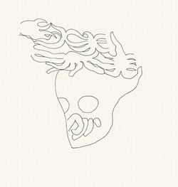 Endre Rozsda - Crâne couronné (1989)