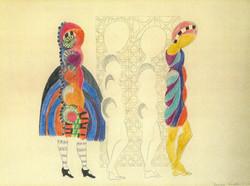 Endre Rozsda - Deux silhouettes aux arcades (1945)