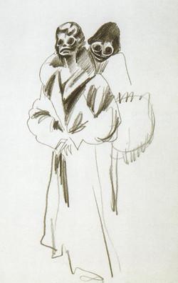 Endre Rozsda - Deux trépassées (cca 1955)