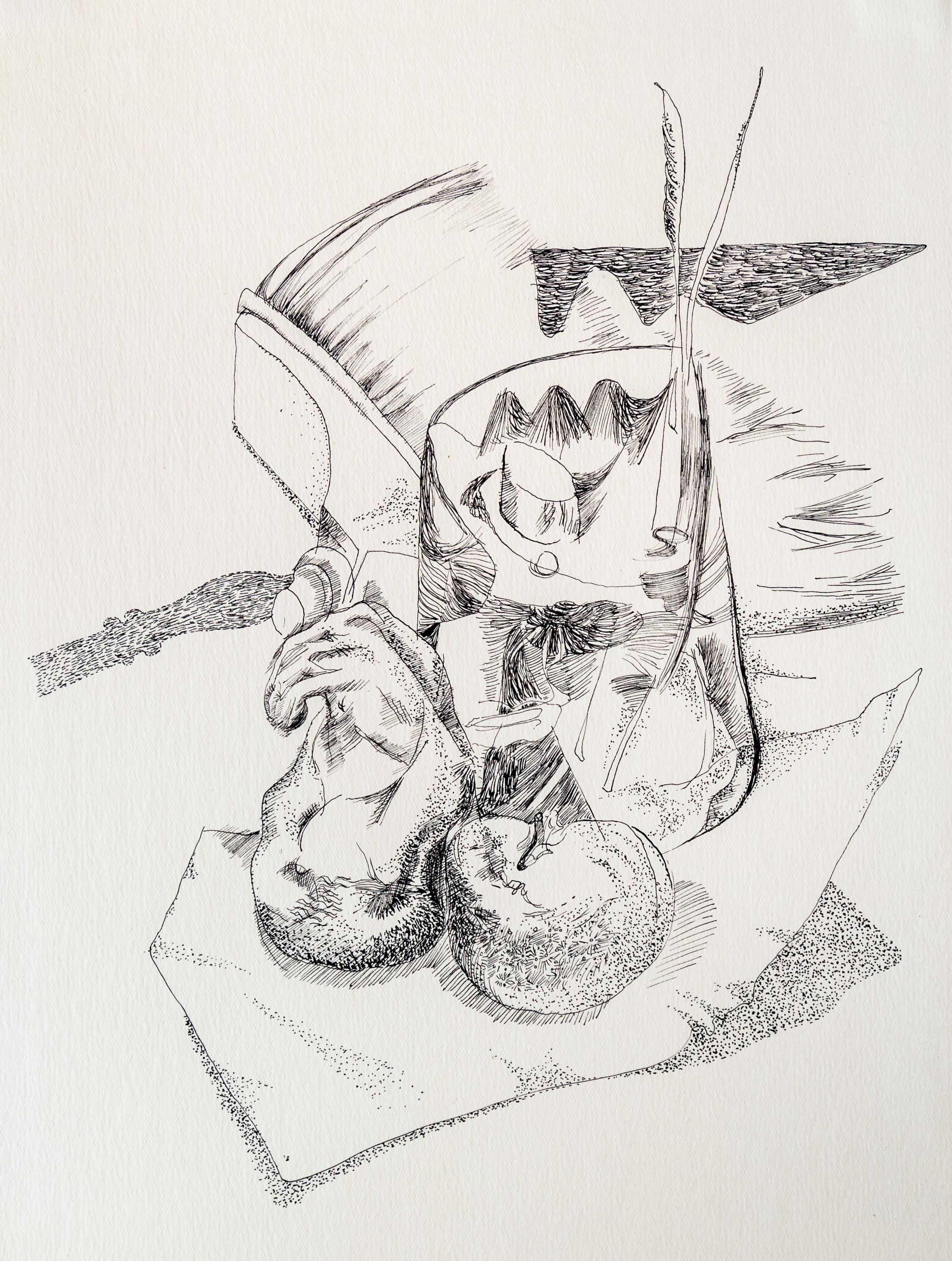 Endre Rozsda - Nature morte au balai-brosse (1942)