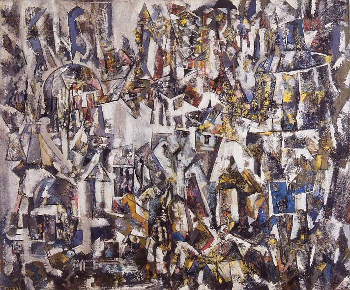 Endre Rozsda - Vue d'oiseau (1958)