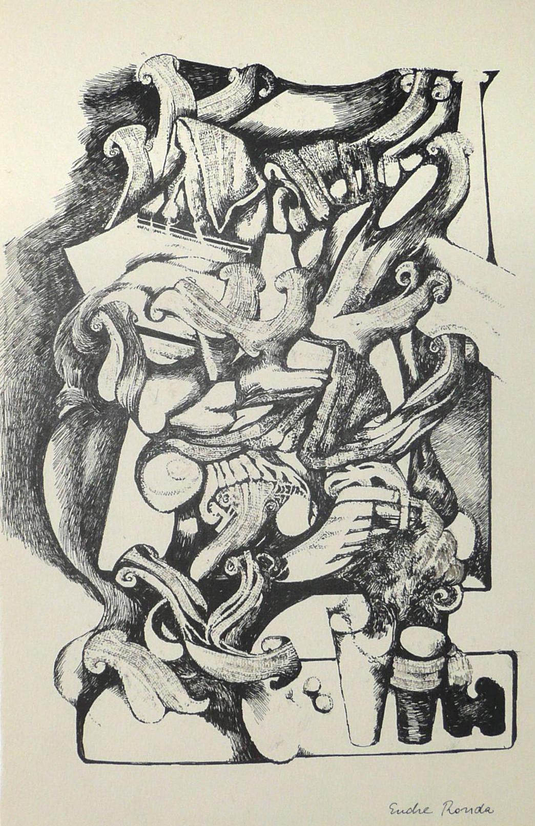 Endre Rozsda - Nature vive 1 (cca 1960)