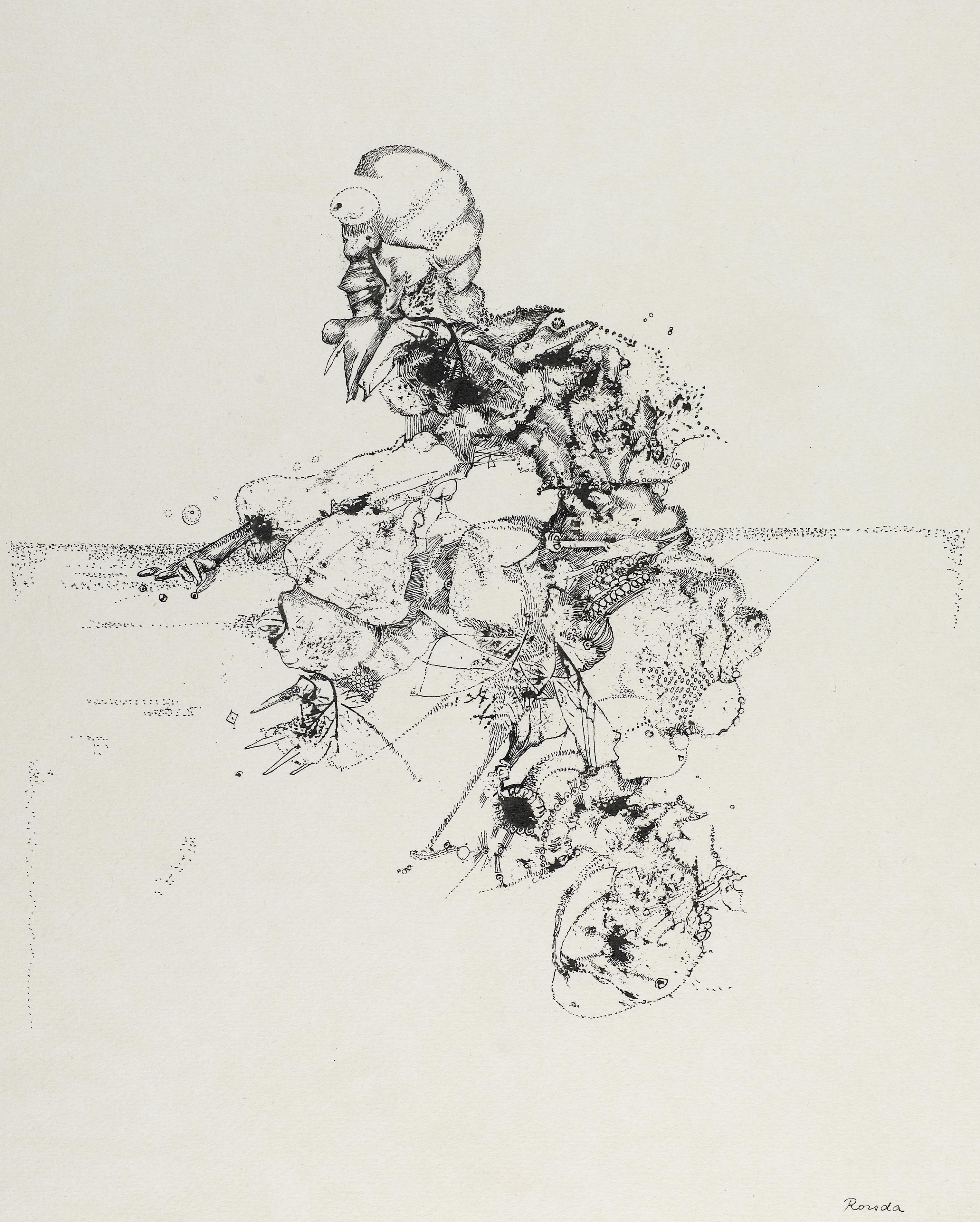 Endre Rozsda - Les jeux (cca 1960)