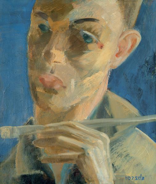 Endre Rozsda - Autoportrait au pinceau (