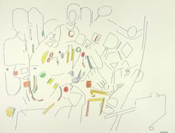 Endre Rozsda - Les invités (cca 1995)