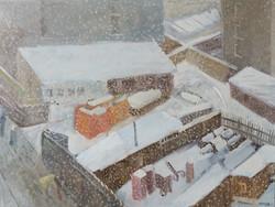 Endre Rozsda - Ville sous la neige (cca 1934)